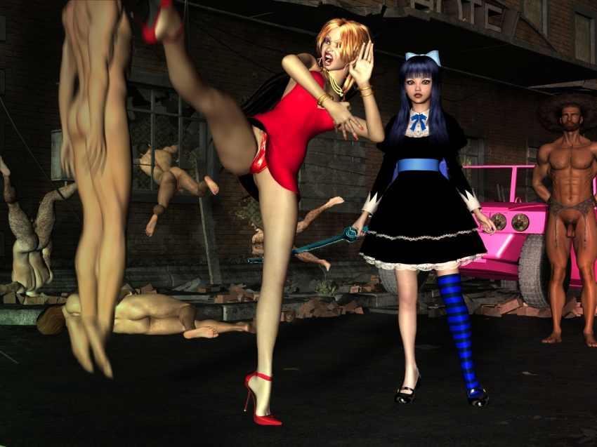 stocking stocking with garterbelt and panty Sonic 3 & amy rose